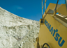 Komatsu suffered at the hands of Caterpillar's profit announcement. (DAVID BOILY/AFP/Getty Images)