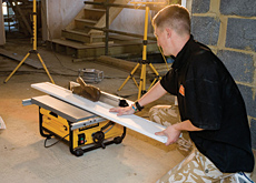 Hopefully biting into the market: Dewalt's latest equipment includes the DW745 Table Saw.