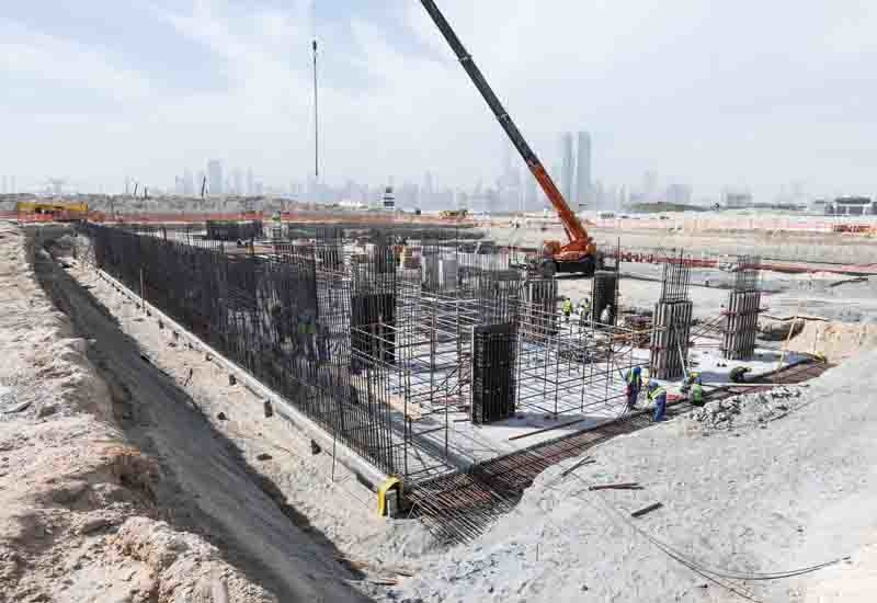 Azizi Riviera is under construction in Dubai's Meydan neighbourhood.