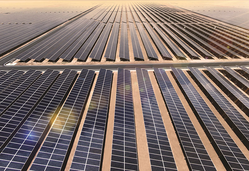 Solar construction is gaining traction in Saudi Arabia and the UAE [pictured here: Dubai's MBR Solar Park].