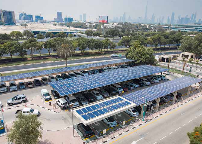 DEWA has commissioned its 2MWp solar carport project.