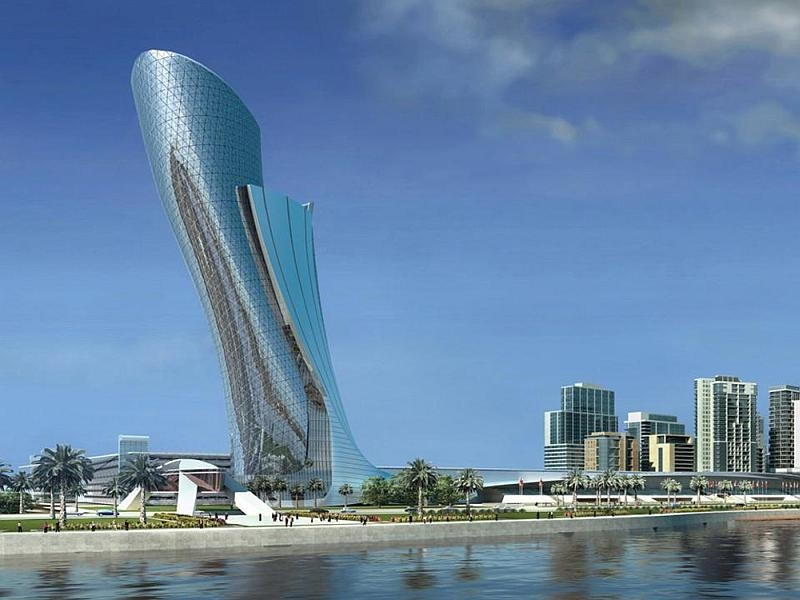 The UAE's Capital Gate in Abu Dhabi is certified by the Guinness World Records as the farthest-leaning manmade building.