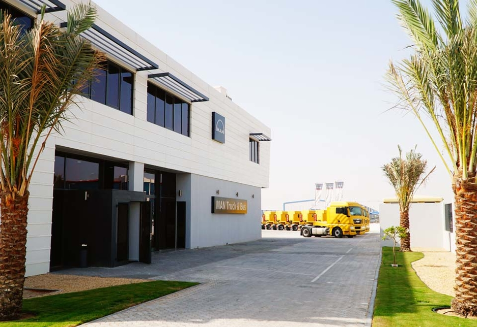 MAN Truck & Bus Middle East's new, fully owned regional headquarters in the Jebel Ali Free Zone, Dubai, UAE.