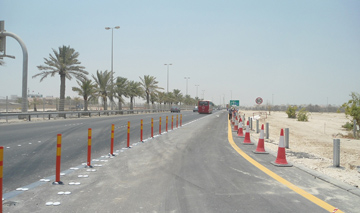 Bahrain's works ministry has finished constructing a new exit to Zayed Town [image: BNA].