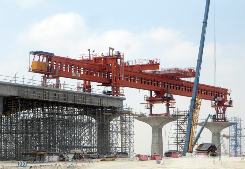 There are a total of five launching girders to be used throughout the Qatar Rail project.