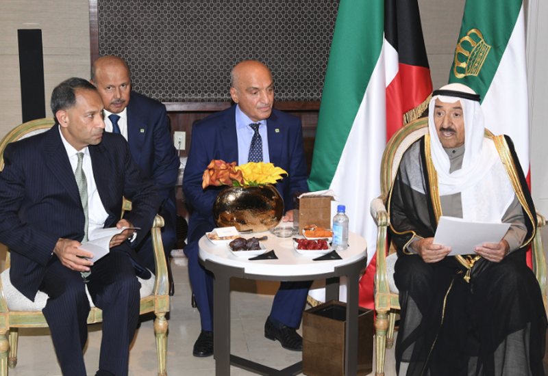 HH the Amir of Kuwait met with executives from 16 US companies with Kuwait eyeing private sector support for state-run projects [image: KUNA].
