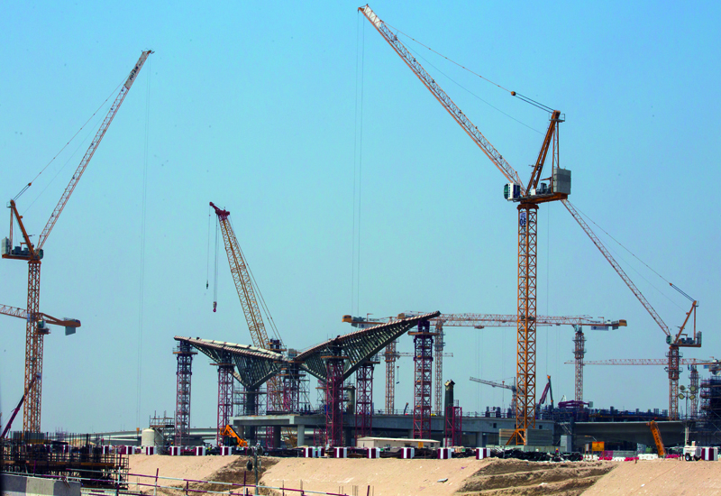 Construction is steadily progressing at the Expo 2020 Dubai site in Dubai South [ ITP Images / Ajith Narendra].