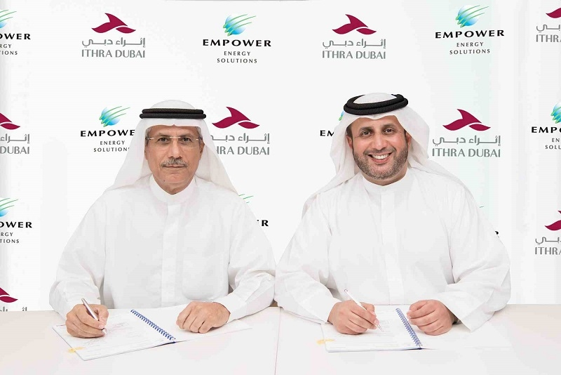 Issam Galadari, director and chief executive officer of Ithra Dubai and Ahmad Bin Shafar, chief executive officer of Empower at the MOU signing.