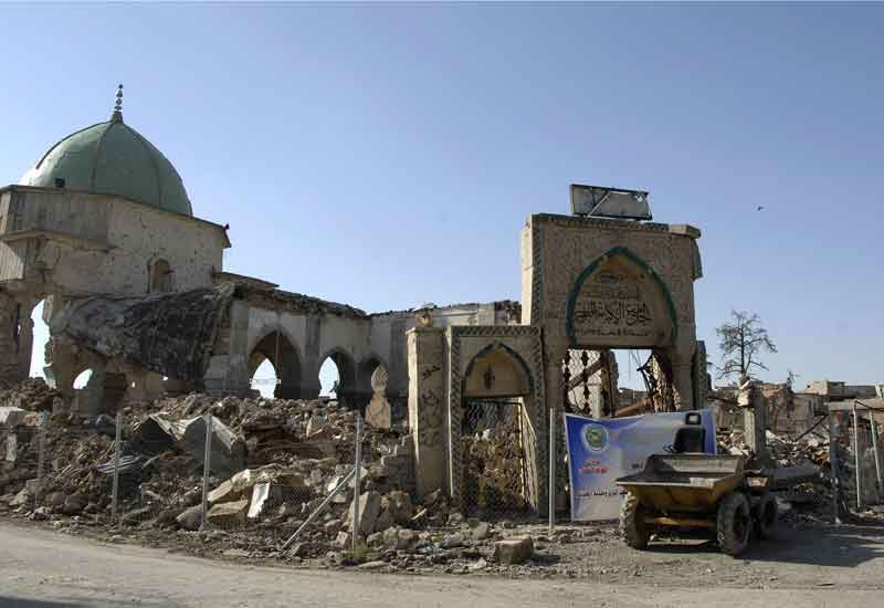 The UAE is backing the reconstruction of Iraq's Great Mosque of Al-Nuri in Mosul [image: ZAID AL-OBEIDI/AFP/Getty Images].
