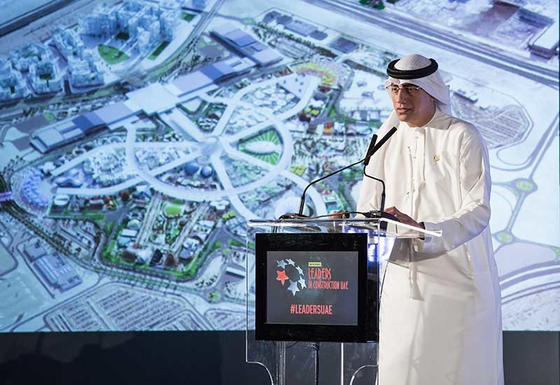Expo 2020 Dubai's Ahmed Al Khatib returned to deliver his keynote address at Construction Week's Leaders UAE summit [archived image from 2017].