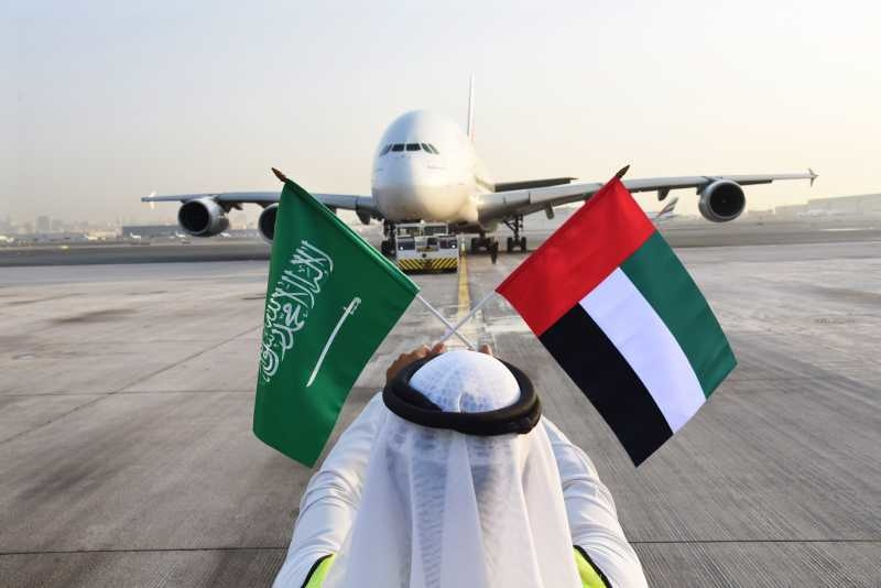 A special Dubai-Riyadh A380 service will be operated to celebrate Saudi Arabia's 88th National Day [image: Emirates].