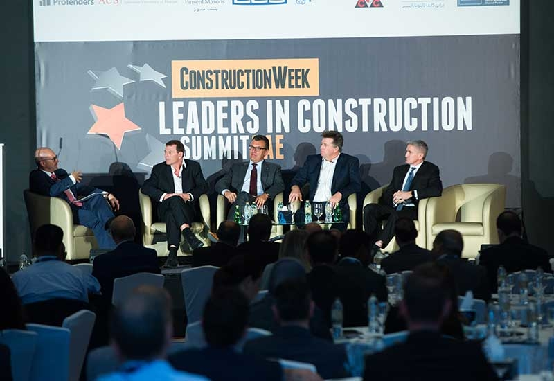 The panel at Leaders UAE included experts from Hill International, ALEC, Besix, Khatib and Alami, and Arabtec Construction,