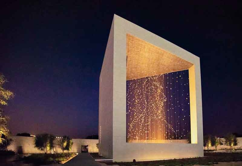 The Constellation at Abu Dhabi's The Founder's Memorial is a 30m-tall structure that creates a 3D portrait of the late Sheikh Zayed bin Sultan Al Nahyan [image: Aurecon].