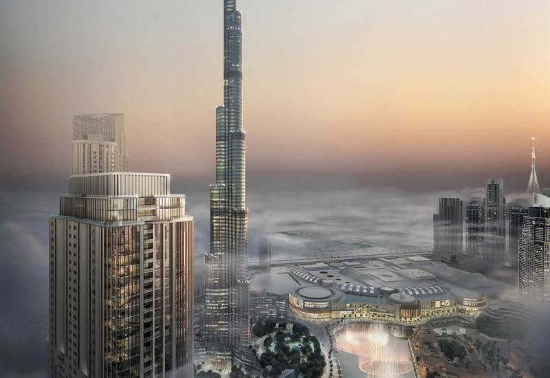Grande Tower boasts views of the world's tallest building, Dubai's Burj Khalifa.