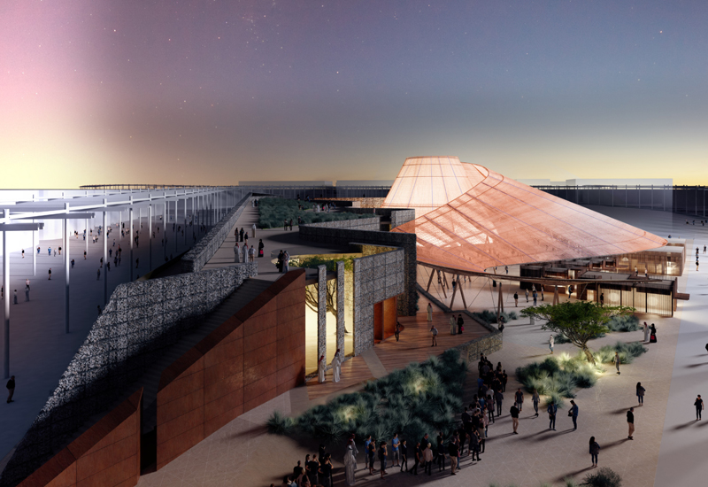 Expo 2020 Dubai's concrete-free Opportunity Pavilion will be built using recyclable materials.