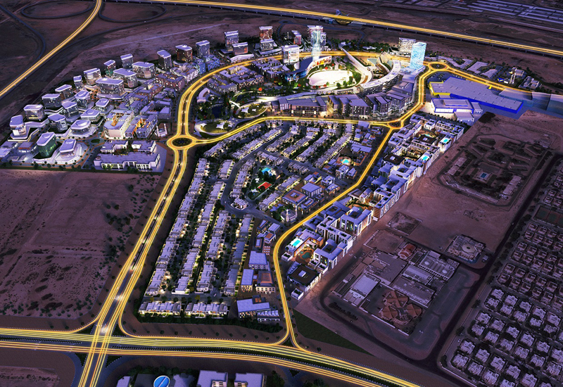 A rendering of Wasl Gate, located in Dubai's Jebel Ali.