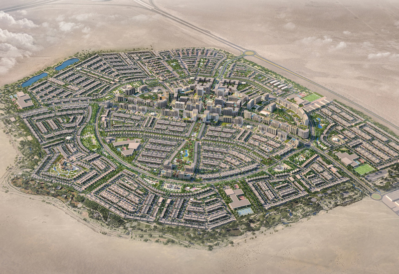 Abu Dhabi's Alghadeer will comprise 14,408 units, including villas, townhouses, and maisonettes [image: Aldar].