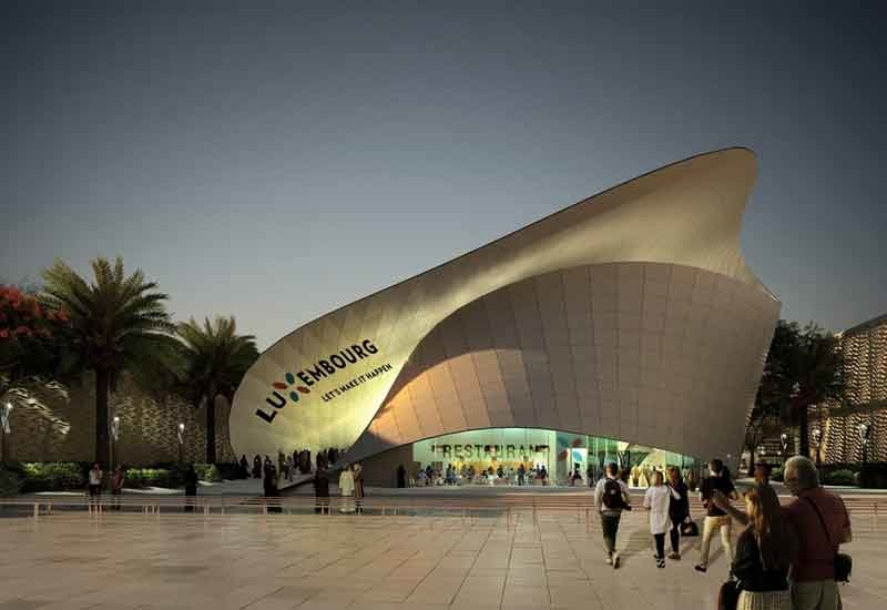 Ground broke on Expo 2020 Dubai's Luxembourg Pavilion in April 2018 [image: middleeastarchitect.com].