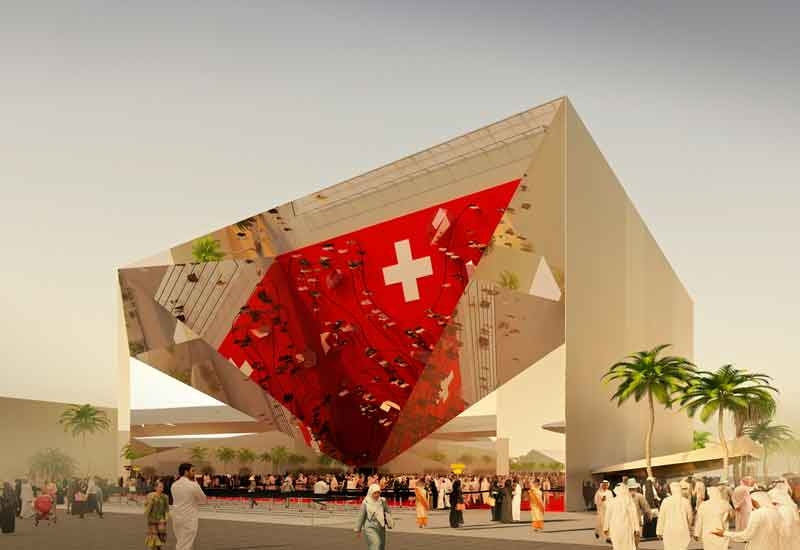 Switzerland's Expo 2020 Dubai pavilion is named Belles Vues [image: commercialinteriordesign.com].