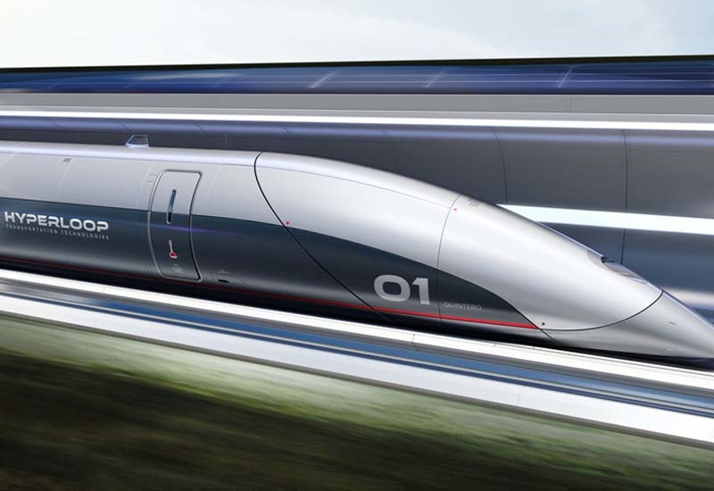 The ultra-high speed transportation can hit speeds of around 600mph  roughly the same as a modern airliner.