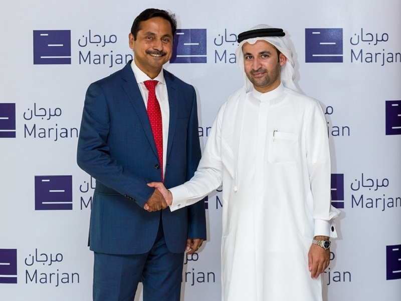 L-R: Richard Menezes with Marjan's managing director and chief executive officer, Abdulla Al Abdouli.