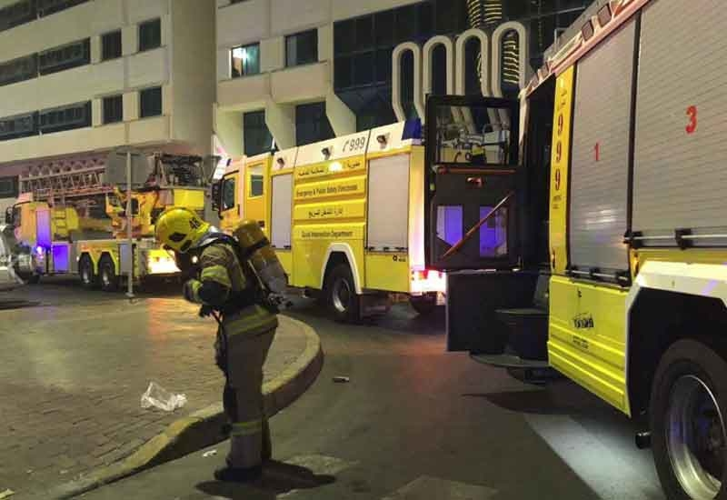 No one is believed to have been injured by the fire in Abu Dhabi [image: Abu Dhabi Police].