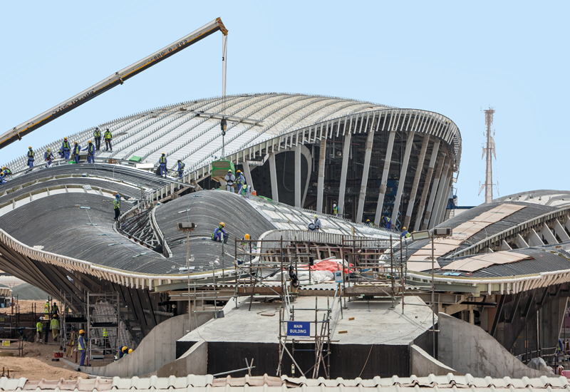 Bee'ah's new Zaha Hadid-designed headquarters building is on track for completion in 2019 [ ITP Images].