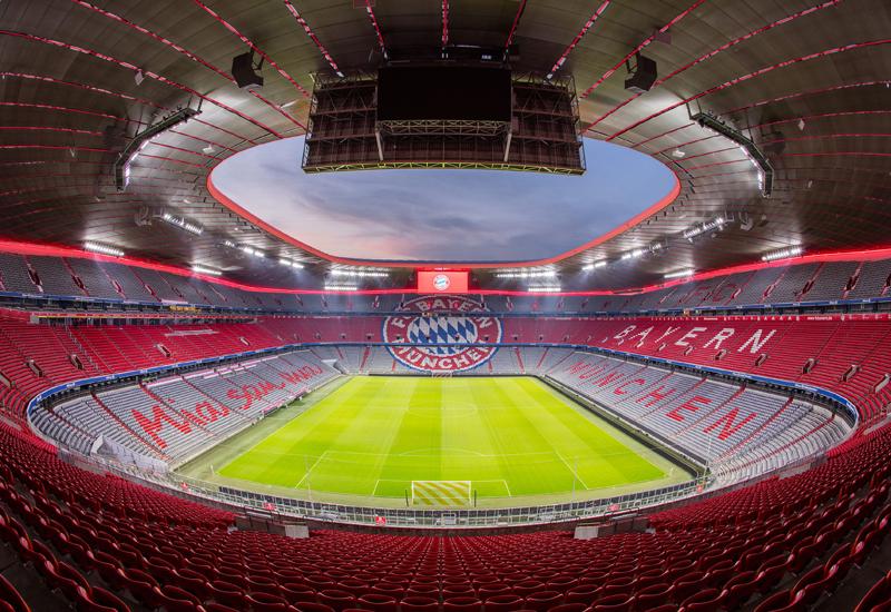 Allianz Arena is football stadium's Bayern Munich's home stadium [image: Zumtobel].