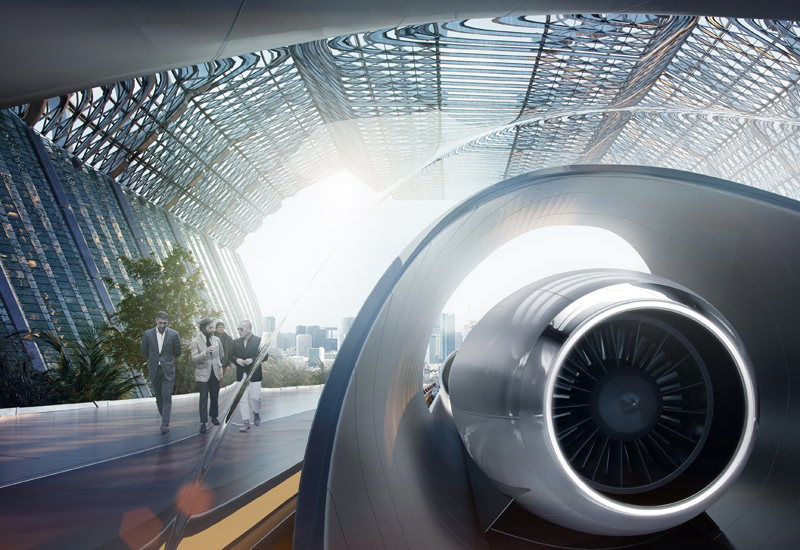 Construction on the worlds first commercial hyperloop track  located in UAE capital Abu Dhabi  will beginin Q3 2019 [image: Hyperloop TT].