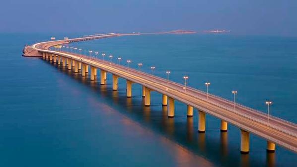 King Hamad Causeway, linking Saudi Arabia and Bahrain, will run parallel to the King Fahd Causeway (pictured).