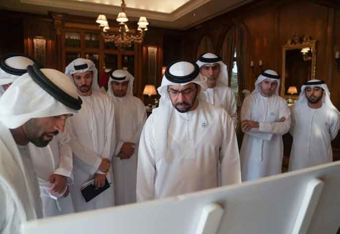 HH Sheikh Hamdan reviewed plans for Mirfa Beach Villa Housing Complex, set for completion in 2020 [image: WAM].