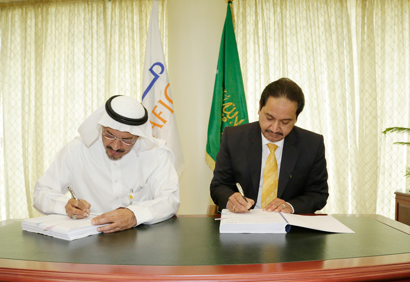The CEOs of Saudi Arabia's Marafiq and India's VA Tech Wabag signed the Jubail plant's expansion contract.
