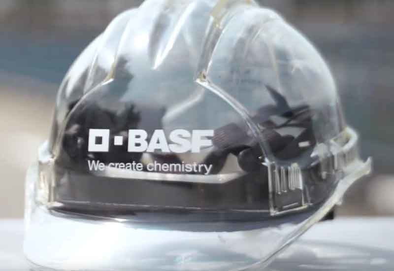 BASF's see-through safety helmet [Image: YouTube/BASF].