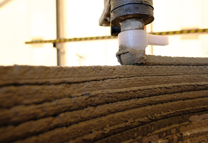 One of Cobod's 3D concrete printers in action [image: Peri / Cobod].