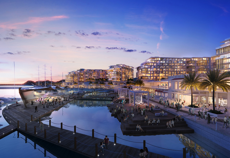 Groundwork has begun on Mina Al Sultan Qaboos, a waterfront project that Omran is backing [image: Damac].