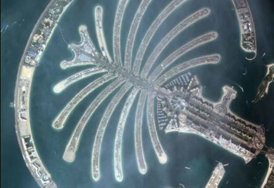 A picture of Dubai's Palm Jumeirah is the first image every taken by the UAE's KhalifaSat [image: Dubai Media Office].