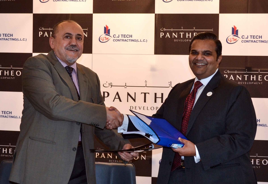 The value of CJ Tech Contracting's agreement with Pantheon Developments cannot be disclosed.