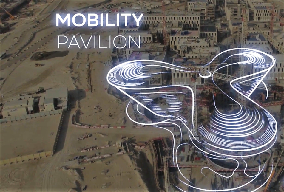 Expo 2020 Dubai has provided a construction update using aerial drones [image: Expo 2020 Dubai drone footage].