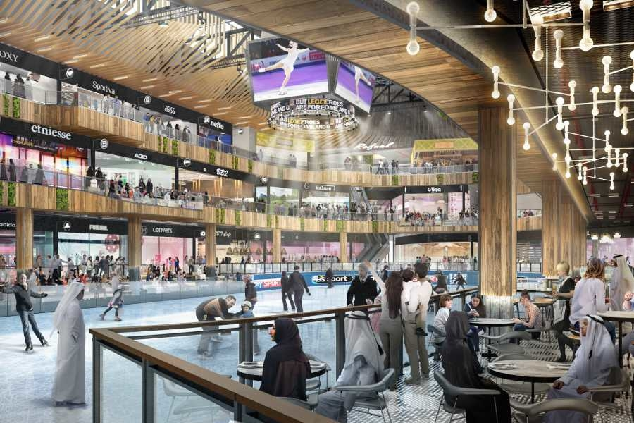An NHL-style ice rink, in addition to cricket simulators and climbing walls, will be developed within Sport Society [image: Viva City].