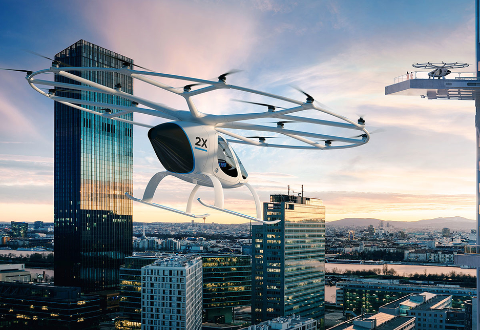 German start-up Volocopter claims its electric flying car will reinvent short-distance urban travel.