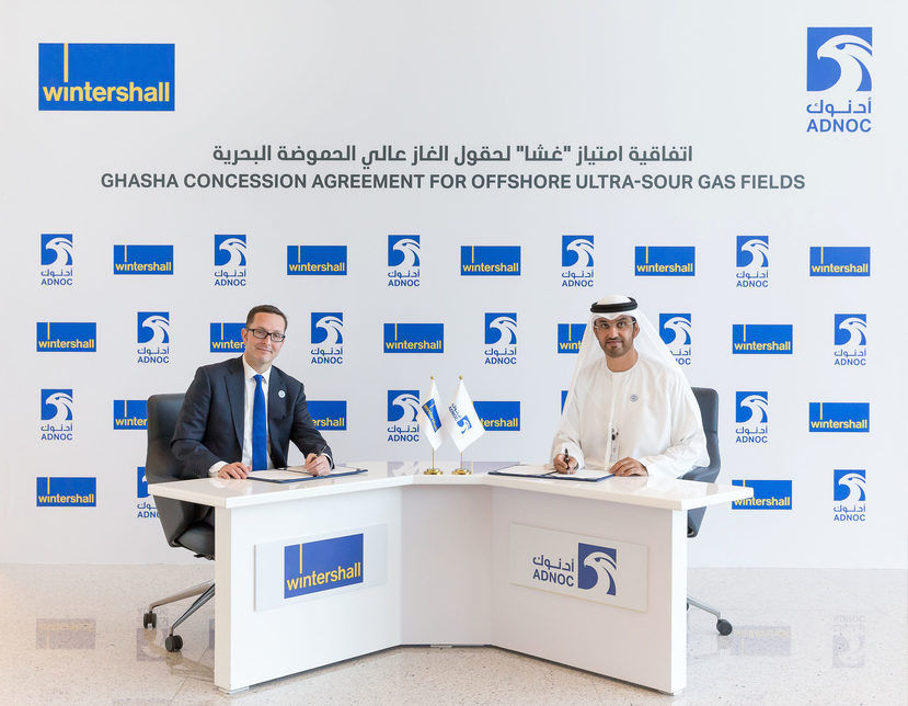 Germany's Wintershall has taken a 10% stake in Adnoc's Ghasha gas project in Abu Dhabi [supplied image].