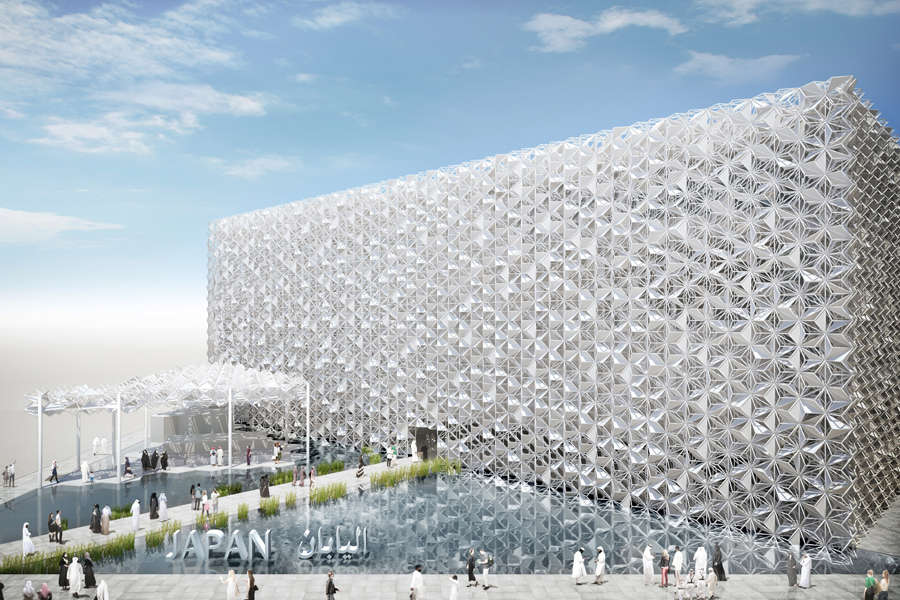 The Japan Pavilion at Expo 2020 Dubai will be an immersive and high-tech facility inspired by Arab culture [image: Jetro].