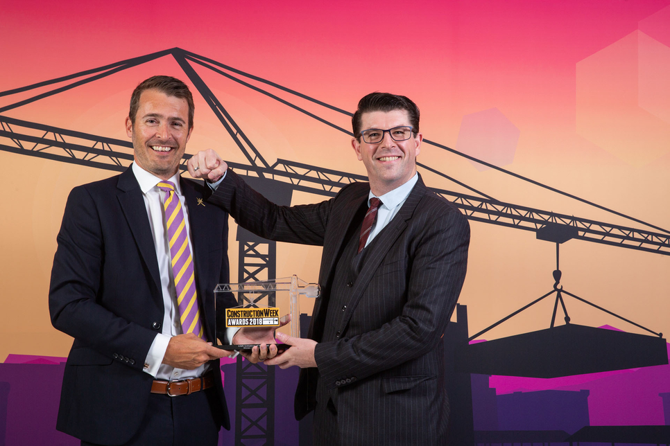 Douglas OHI was awarded CSR Initiative of the Year honours at the Construction Week Awards 2018.