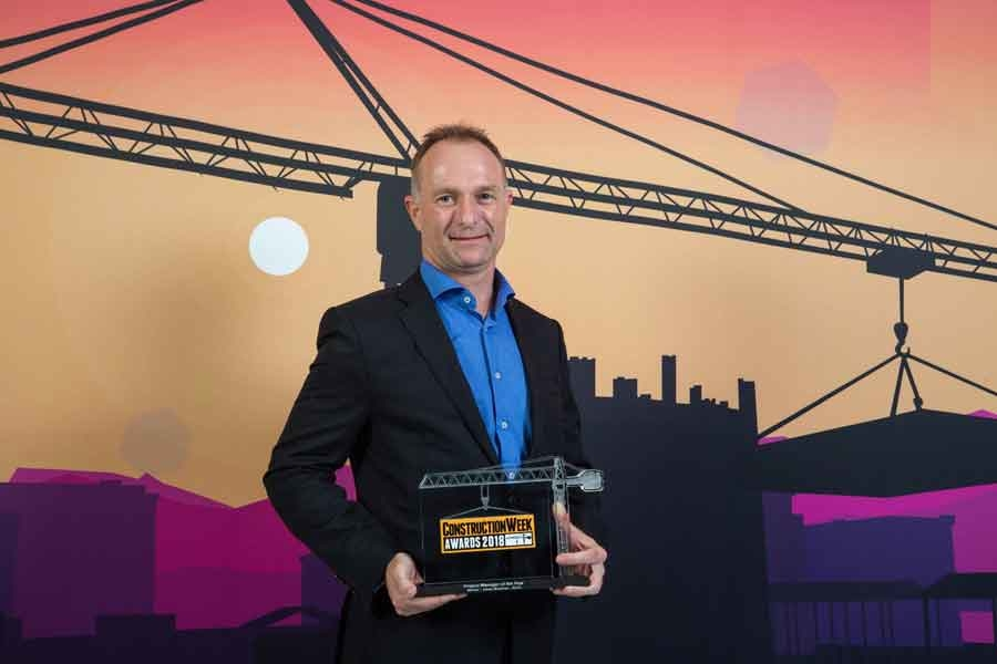 Johan Moolman is Construction Week's Project Manager of the Year for 2018.