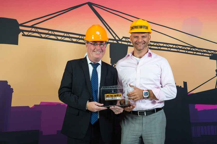 Innovation helped Damac's project, nominated by KEO International Consultants, win at the Construction Week Awards 2018. KEO's Grant Gibson, chief construction manager, and Greg Karpinski, chief treasury officer collected the award.
