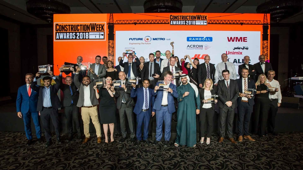 The Construction Week Awards 2018 ceremony was held at Dubai's JW Marriott Marquis hotel.
