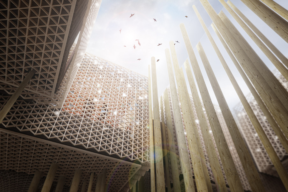Sweden's Expo 2020 Dubai pavilion was designed by architects from three European countries [image: Alessandro Ripellino Architects].