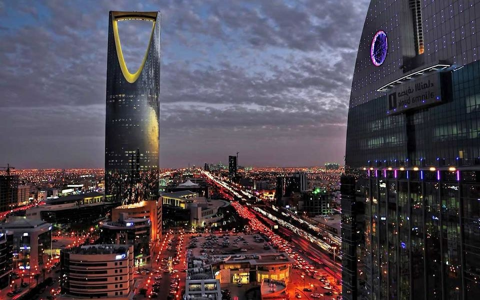 """""""The COVID-19 pandemic will impact the Kingdom's construction sector in 2020"""" [representational image of the Riyadh skyline]"""