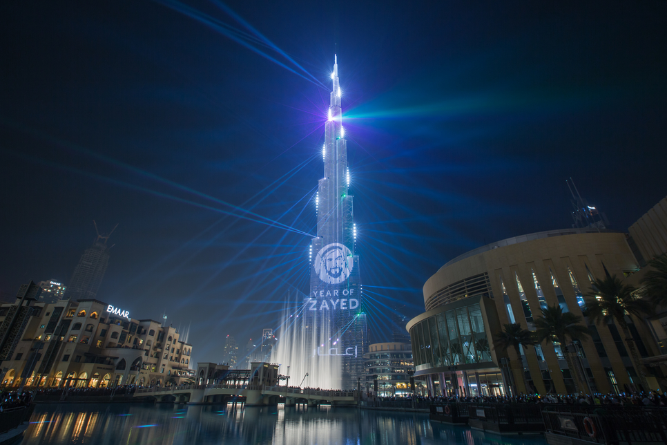 Burj Khalifa hosted the annual New Year's Eve fireworks and LED light display show.
