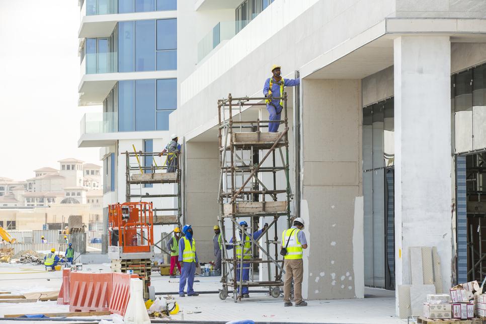 Building façades are now complete at Aldar's 1.4km Mamsha Al Saadiyat [pictured] beachfront development.